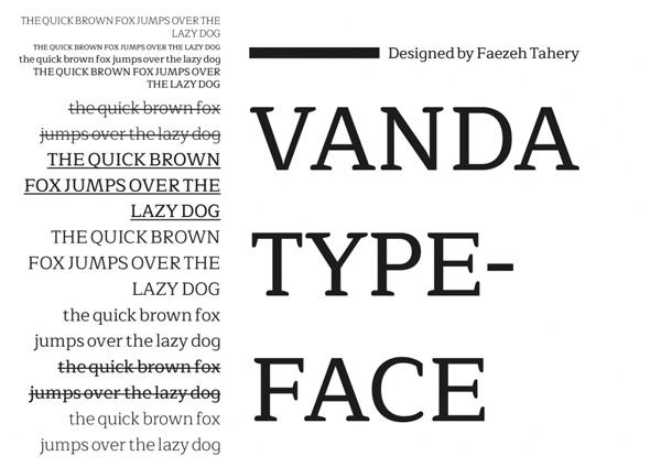 vanda font